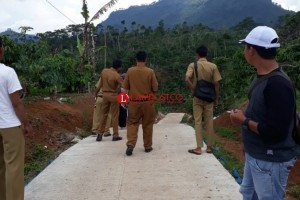 Pembangunan Fisik Program Gerbang Desa 2018 di Lambar Belum Selesai