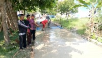 Pembangunan Jalan Rabat Beton di Rejomulyo diklaim Sesuai Mutu