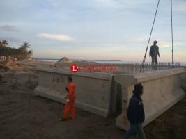Pembangunan Jembatan Pekon Mandirisejati Capai 80%