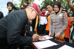 Pemkab Apresiasi Acara Deklarasi Damai Pemilu 2019 Polres Lamsel