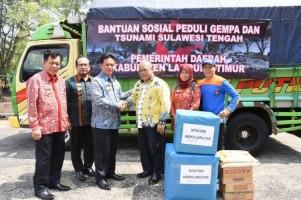Pemkab Lamtim Salurkan Bantuan untuk Korban Gempa Bumi dan Tsunami Palu-Donggala