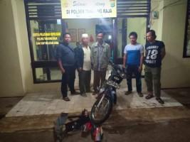 Penadah Motor Curian Diamankan Polsek Tanjungraja