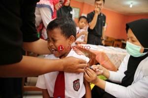 Pencapaian Imunisasi MR Lampung 89,96 Persen
