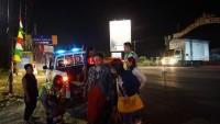 Penumpang Bus yang Terguling Dievakuasi ke Pos Pam Kotadalam