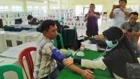 Penyelenggara Pemilu di Sidomulyo Periksa Kesehatan