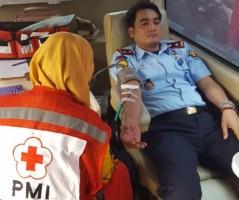 Peringati Hari Bhakti Pemasyarakatan, Rutan Krui Gelar Donor Darah