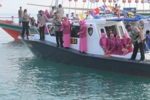 Peringati HUT-73 Bhayangkara, Polres Lampung Selatan Helat Tabur Bunga