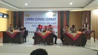 Personel Polresta Bandar Lampung Adu Pintar dalam Lomba Cerdas Cermat