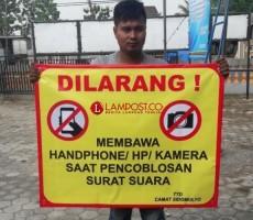 Pilkades Serentak, Pemilih Dilarang Bawa HP ke Bilik Suara