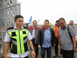 Pj. Gubernur Lampung Boytenjuri Tiba di Lampung