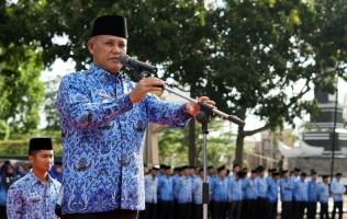 Plt Bupati Lamsel Pimpin Upacara Perdana 2019