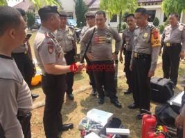 Polda Lampung Cek Kesiapan Sat Sabhara Polres Lampung Utara