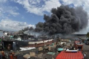 Polda Tunggu Hasil Labfor Kebakaran Kapal di Benoa