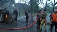 Polisi Belum Bisa Pastikan Penyebab Kecelakaan Dua Kendaraan Terbakar