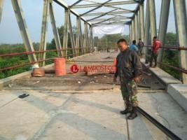 Polisi Pastikan Jembatan Ambrol di Mesuji Bukan Karena Konstruksi Yang Bermasalah