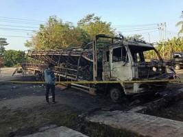 Polisi Selidiki Truk dan 88 Motor Terbakar