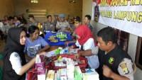 Polres Lambar Gelar Bakti Sosial Pelayanan Pengobatan Gratis