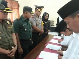 Polres Lambar Gelar Deklarasi Damai Pilkades Wilayah Pesisir Barat