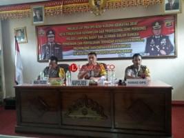 Polres Lambar Gelar Latihan Pra Operasi Bina Kusuma Krakatau 2018