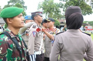 Polres Lambar Gelar Pasukan Pengamanan Natal dan Tahun Baru