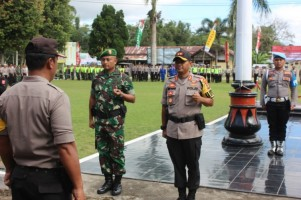 Polres Lambar Gelar Pasukan Pengamanan Pemilu