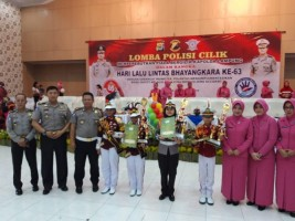 Polres Lampung Selatan Juara Lomba Polisi Cilik 2018