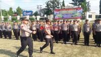 Polres Lampung Utara Apel Gelar Pasukan Operasi Ketupat Krakatau 2019