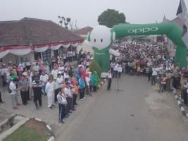 Polres Lampung Utara Gelar Jalan Santai dan Senam Bersama