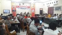 Polres Lampung Utara Gelar Rakor Operasi Lilin Krakatau 2018