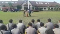 Polres Lampung Utara GelarSimulasi Penanggulangan Kebakaran