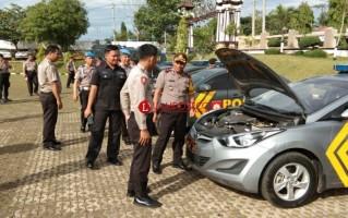 Polres Lampung Utara Rutin Cek Kendaraan Dinas