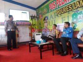 Polres Lampura dan Pemkab Launching SMS Bluster Mudik Lebaran