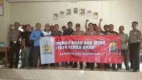 Polres Lampura Deklarasi Pemilu Damai Bersama Warga Desa Ogan Lima