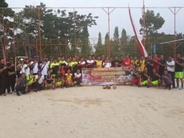 Polres Lampura Gelar Olahraga Bersama TNI, Brimob dan Insa Pers