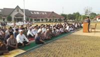 Polres Lampura Gelar Salat Idul Adha di Halaman Mapolres