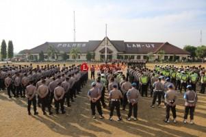 Polres Lampura Terjunkan 453 Personel Amankan Demo Perawat
