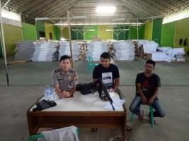 Polres Lampura Terjunkan Personel Jaga Gudang Logistik Pemilu