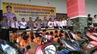 Polres Lamsel Tangkap 29 Pelaku Tindak Kejahatan selamaOperasi Sikat Krakatau 2019