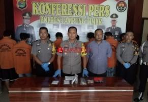 Polres Lamtim Tangkap 9 Tersangka dari 6 Kasus Narkoba
