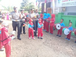 Polres Pesawaran Gelar Lomba Mawarnai dan Menyusun Puzzle Bersama Polisin Anak