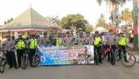 Polres Tanggamus Gandeng Komunitas Sepeda Pringsewu Gelar Kampanye TSM