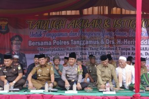 Polres Tanggamus Gelar Pengajian Akbar dan Istigasah Jelang Pemilu