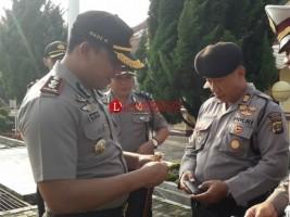 Polres Tanggamus Lakukan Pemeriksaan Internal Kelengkapan Identitas Anggotanya