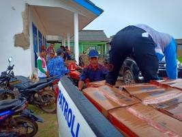 Polres Tulangbawang Salurkan Bantuan ke Korban Puting Beliung