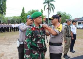Polres Way Kanan Gelar Apel Pasukan Operasi Mantab Brata Krakatau 2018