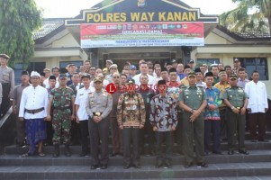 Polres Way Kanan Gelar Deklarasi Damai Pilpres 2019