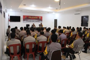 Polres Way Kanan Gelar Pelatihan Bhabinkamtibmas Guna Meningkatkan Pelayanan