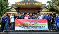 Polri dan Keluarga Besar Wartawan Way Kanan Deklarasikan Pemilu Damai