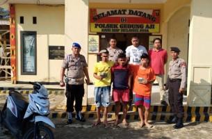 Polsek Gedungaji Bekuk Tiga Tersangka Pembobol Rumah Warga Sukabhakti
