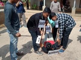 Polsek Gunungagung Gelar Rekonstruksi Kasus Pembunuhan di Lapo Tuak